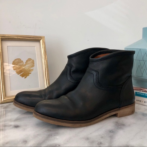 Lucky Brand Shoes - Lucky Brand Leather Ankle Boots in Black